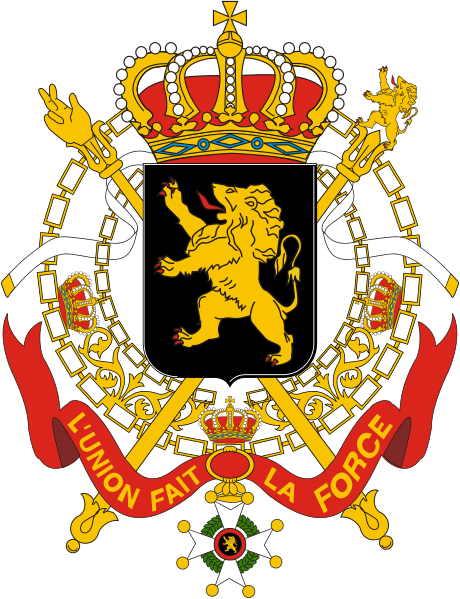 Archivo:Coats of arms of Belgium Government.svg