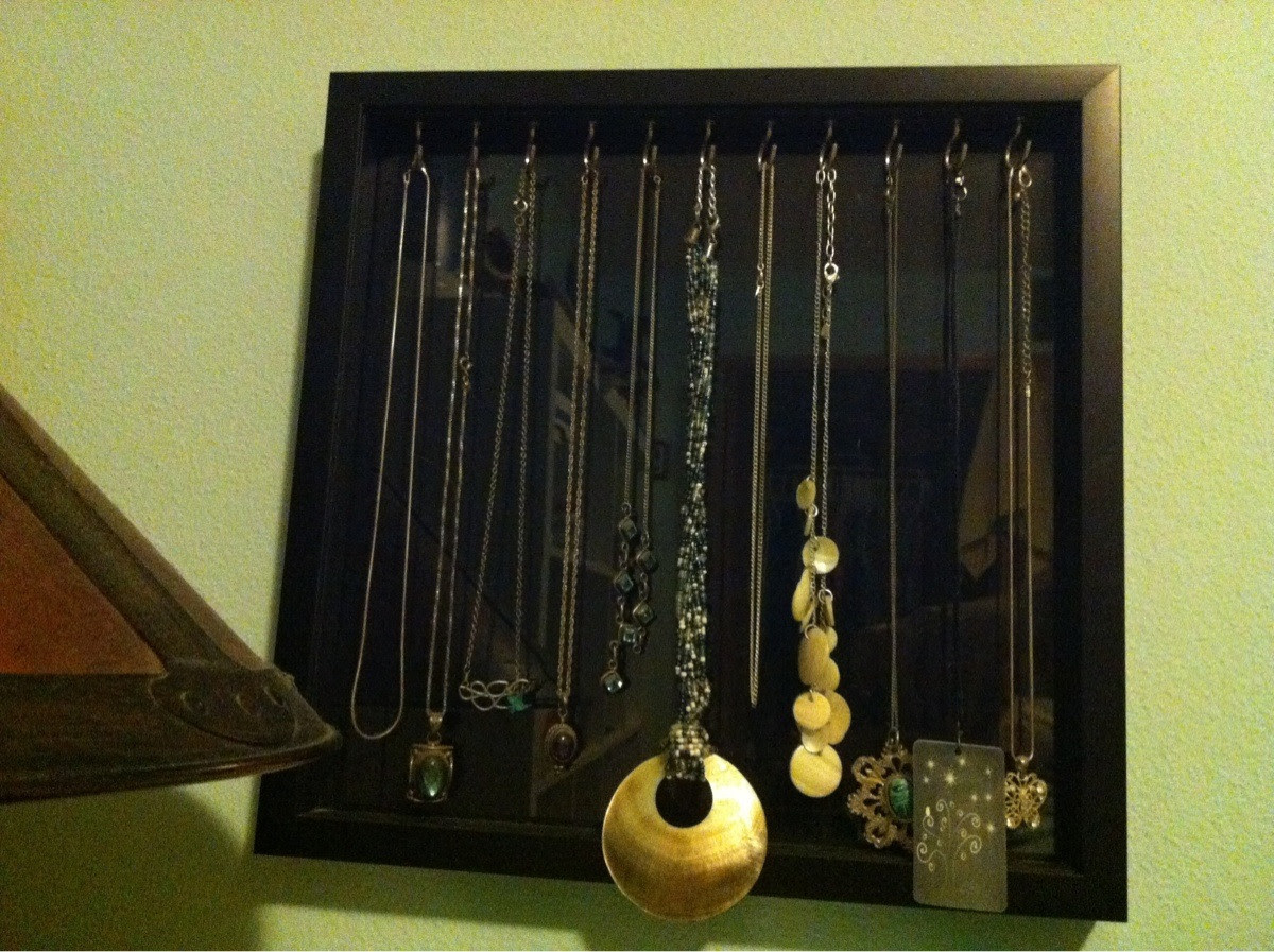 Simple Necklace Holder I Made For My Wife Shadow Box Frame From
