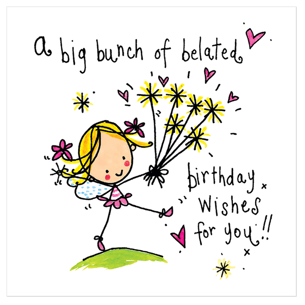 A Big Bunch Of Belated Birthday Wishes For You Juicy Lucy Designs