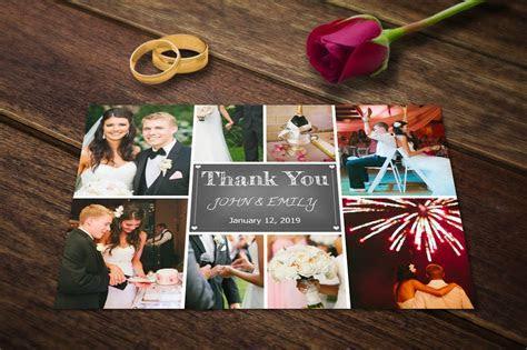 Wedding Thank You Card Template PSD ~ Postcard Templates