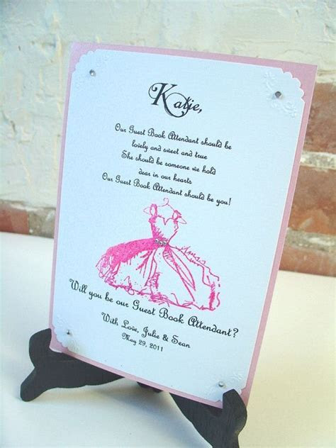 Guest Book Attendant Invitation 5x7 Will by