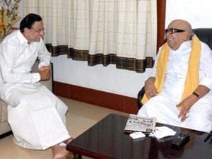 Chidambaram Meets Karunanidhi Ahead