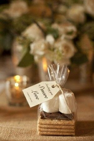 "DIY ""Smore Love"" – Wedding Favors."