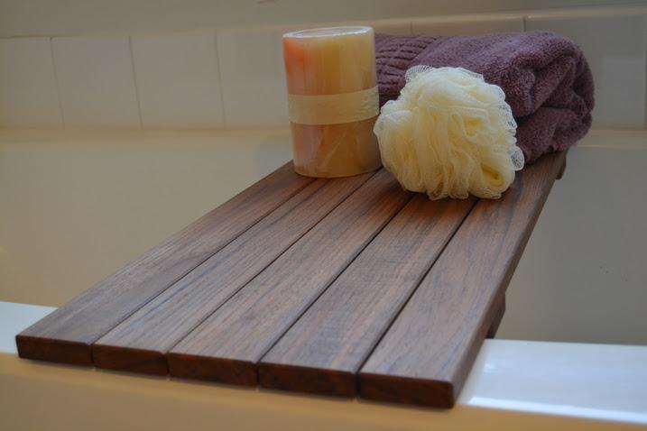 Teak Bath Seat & Caddy
