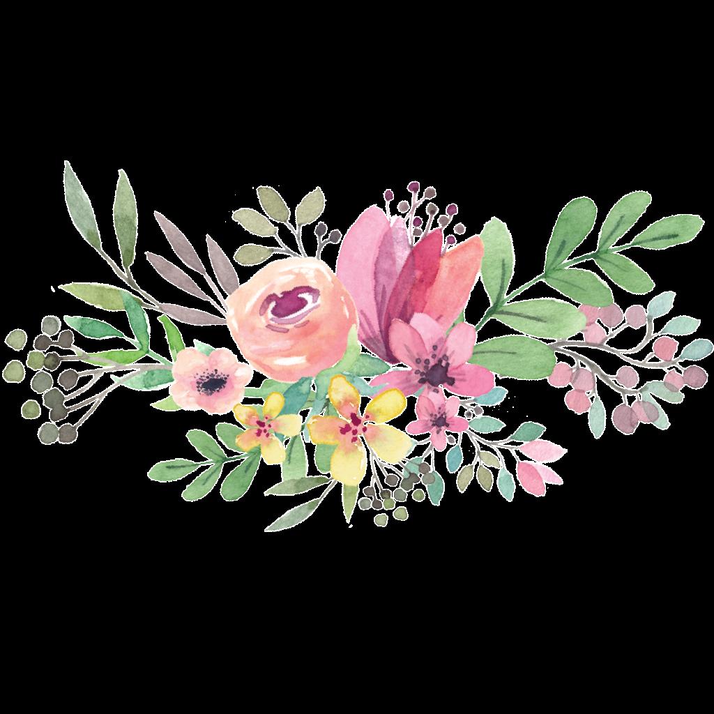Watercolor Flowers PNG Transparent File | PNG Mart
