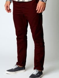 Burgundy Slim Fit Chino