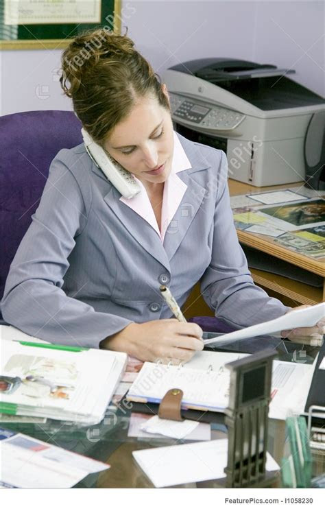young business woman working   office stock image