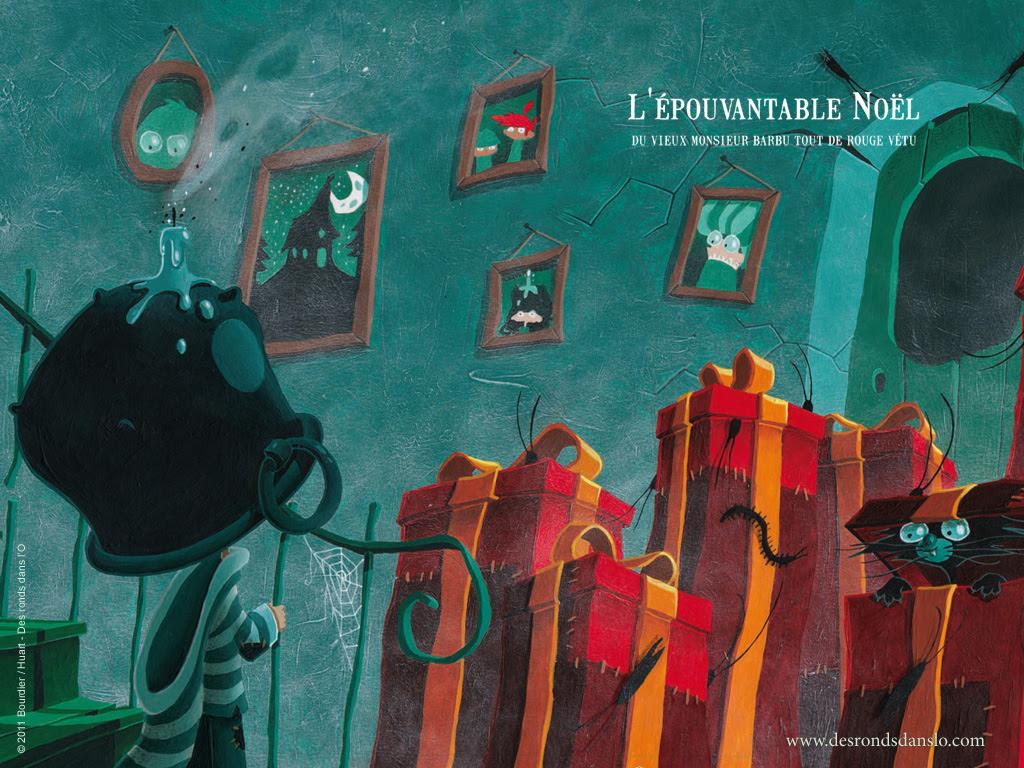 L'épouvantable Noël du vieux monsieur barbu tout de rouge vêtu (4 fonds d'écran)