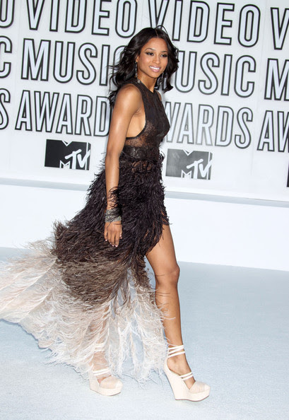 Ciara  Celebrities arrive at the 2010 MTV Video Music Awards at the Nokia  Theatre in L.A. Live in Los Angeles.