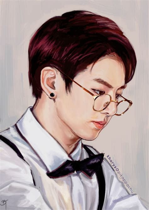 bts jungkook fanart fan art images  pinterest