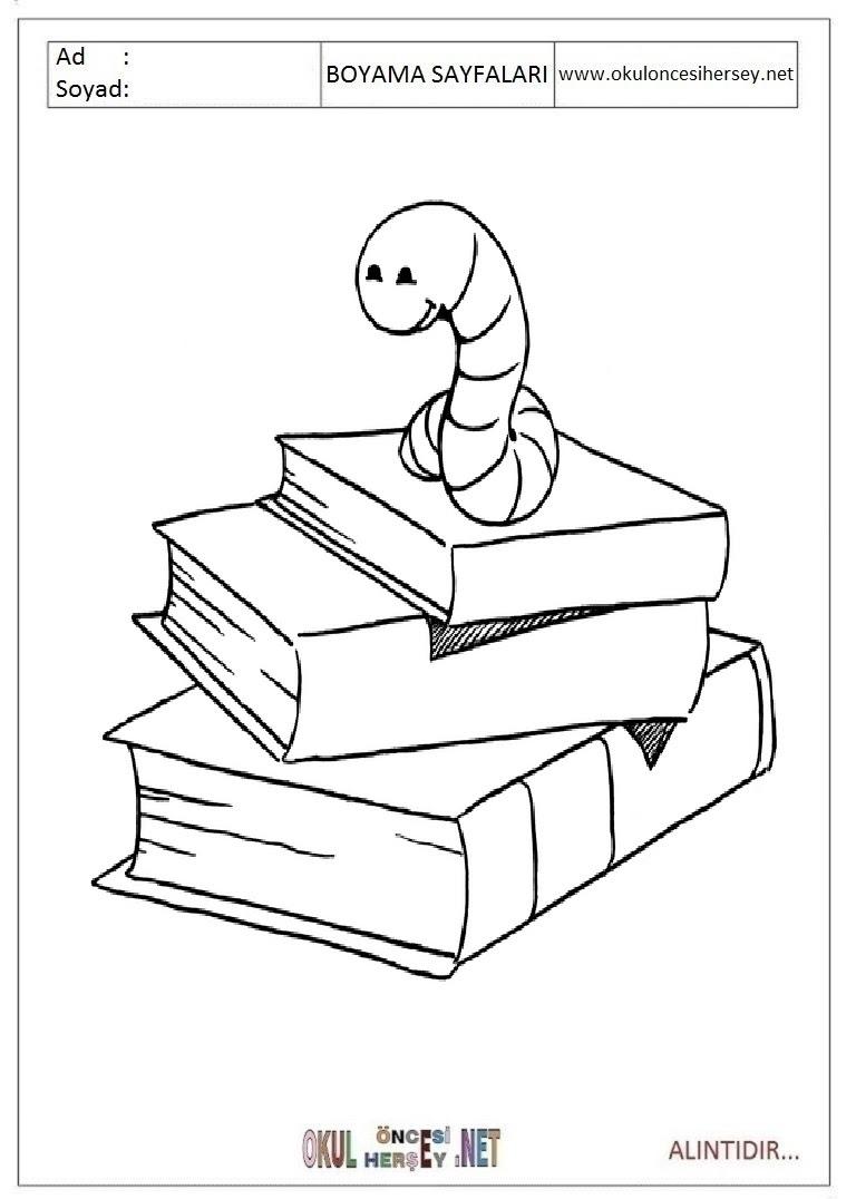 Kitap Boyama Sayfaları