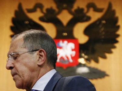 Sergéi Lavrov, durante su intervención de hoy en Moscú. -REUTERS