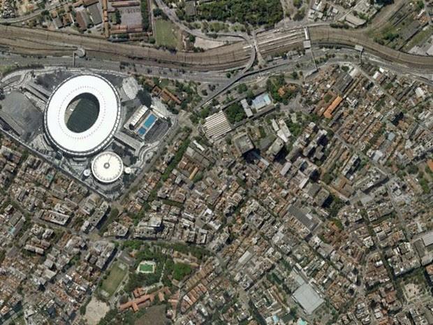 Maracanã, no Rio, em foto feita em 7 de julho de 2004 (Foto: Base Aerofotogrametria)