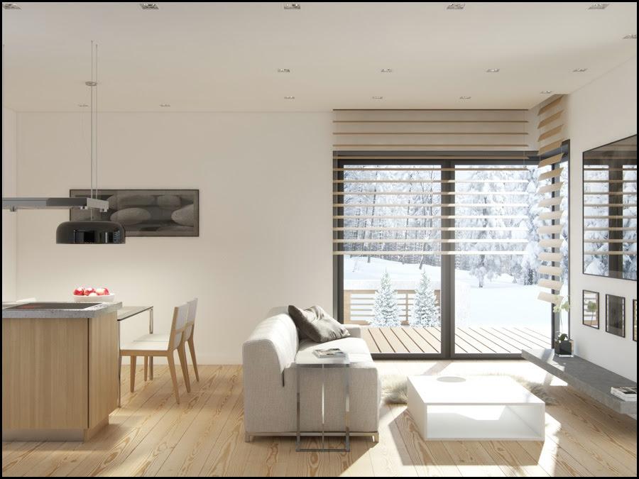 White Living Room Dining Roominterior Design Ideas