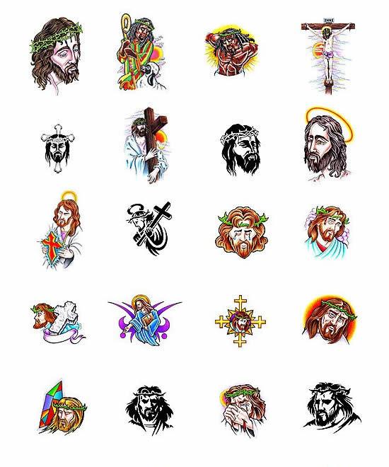 jesus on cross tattoo. Large Jesus on cross back piece tattoo.