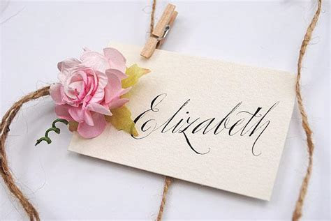 Vintage Wedding Calligraphy Place Name Cards ? Exclusive