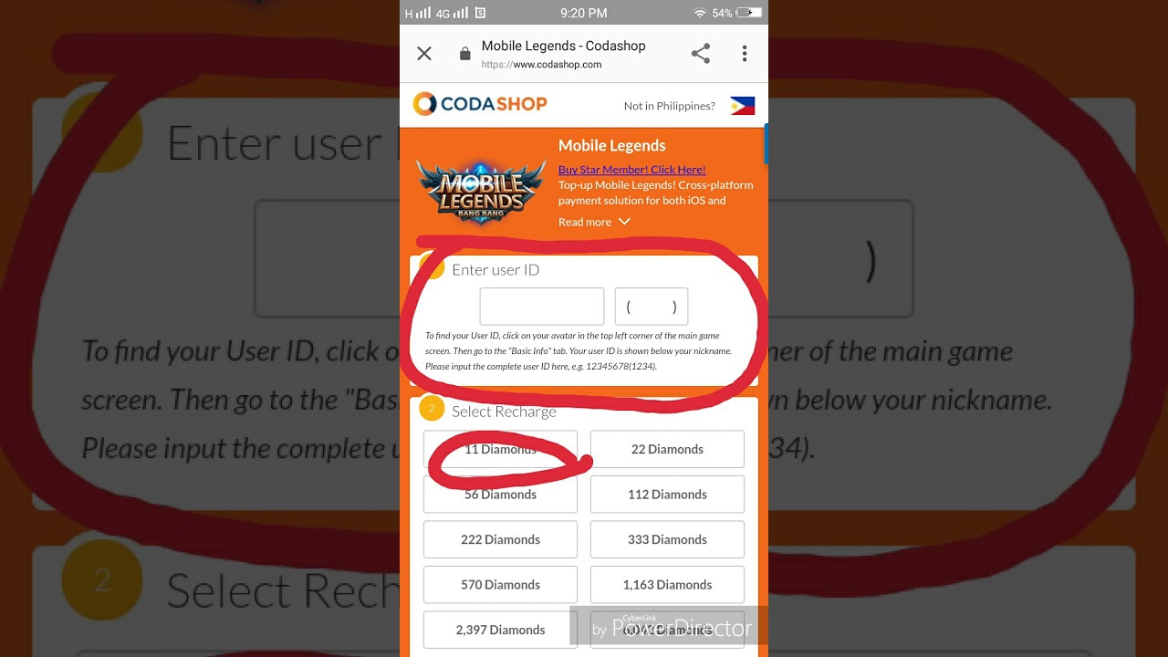 Mobile Legends Recharge Using Paymaya