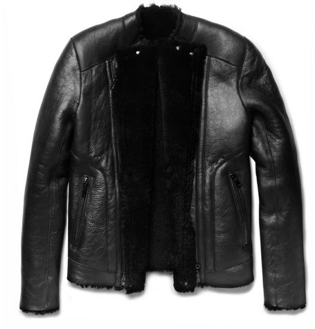 Balmain Shearling-Lined Slim-Fit Leather Jacket