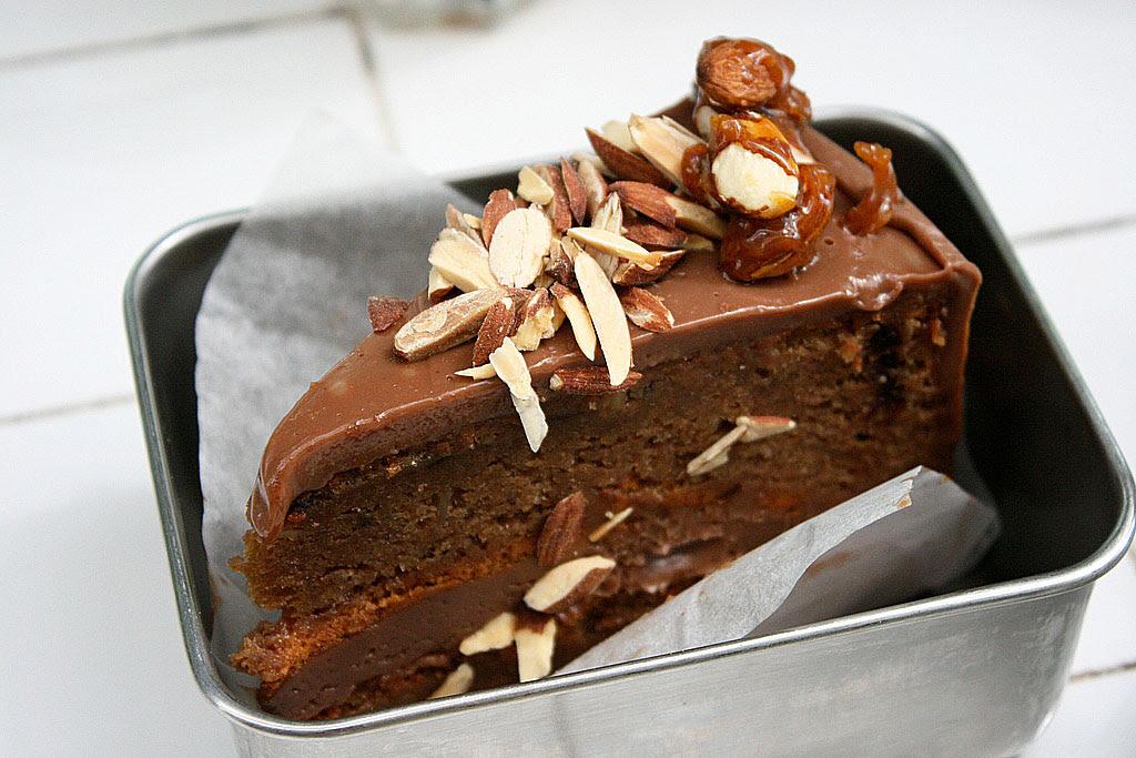 Guiltless Chocolate Almond Cake