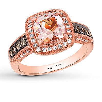 Le Vian Morganite Ring 1/3 ct tw Diamonds 14K Strawberry