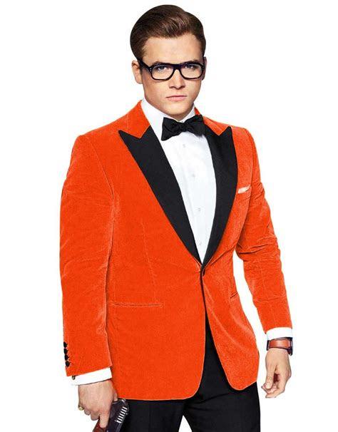 orange prom suit suit la