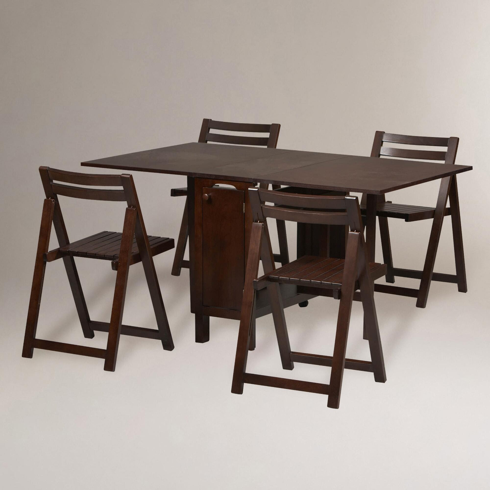Wenge Lawson Space Saver Table & Chair Set | World Market