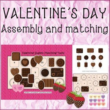 Valentine Sweets Matching Tasks