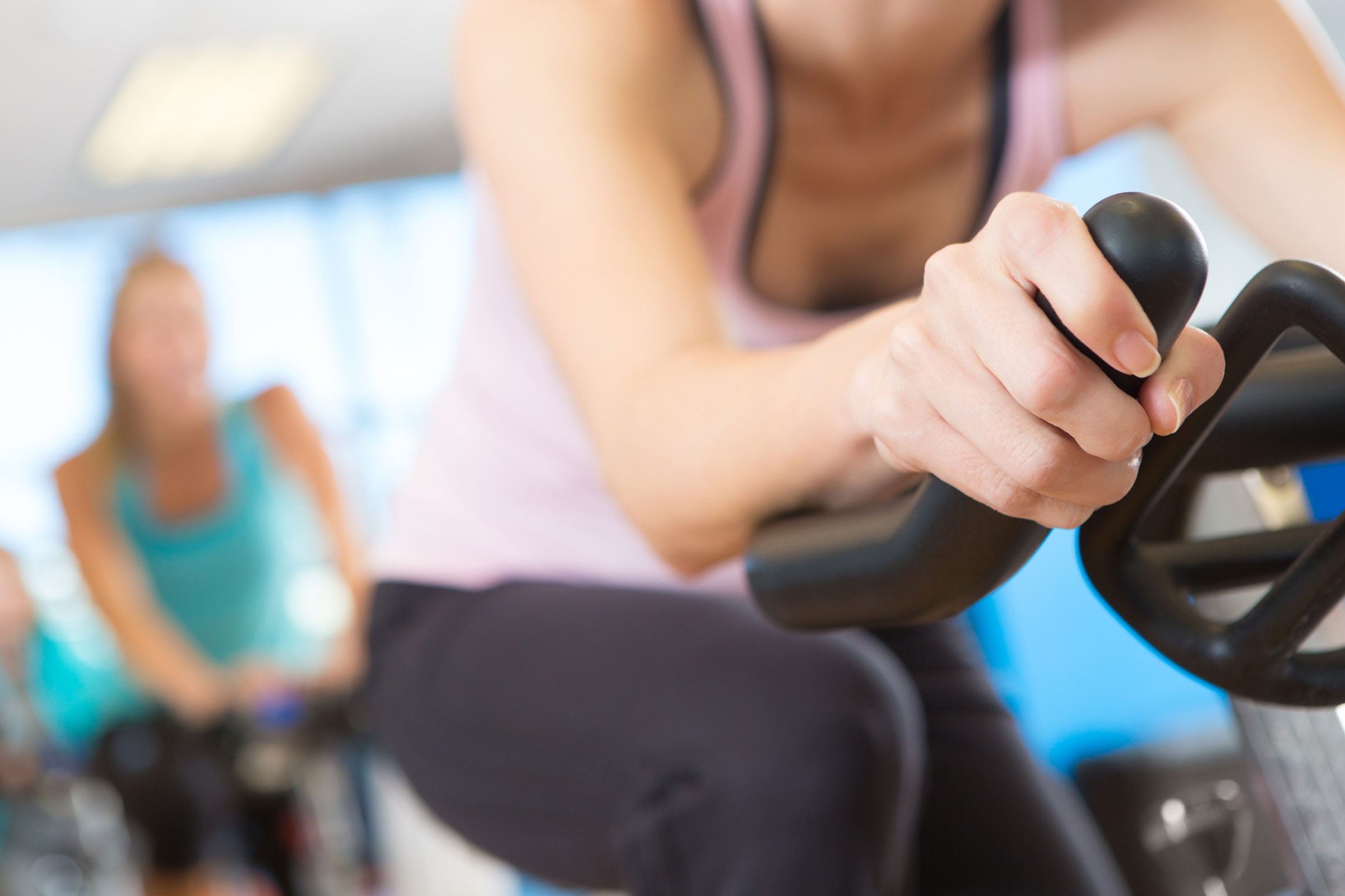 Live and on-demand online spin class