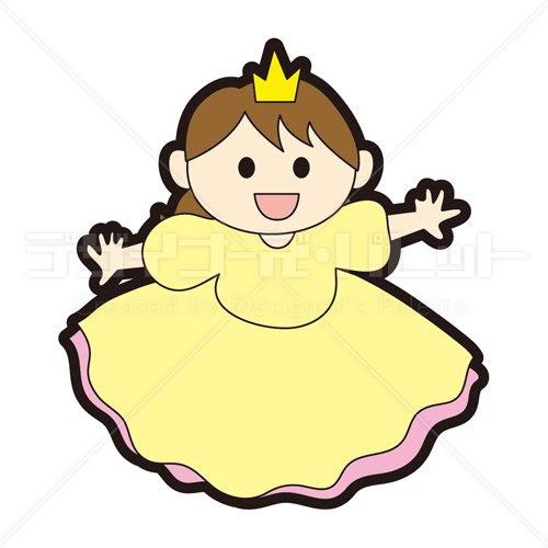 お姫様 イラパレロイヤリティフリーのストックイラスト