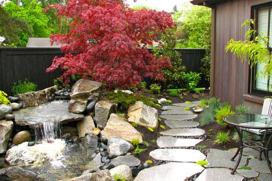 small water feature for small yard | Landscape Ideas for Steve | Pint