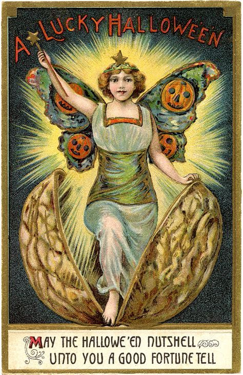 Amazing Vintage Halloween Fairy Image!   The Graphics Fairy