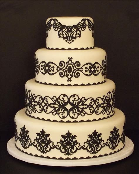 Creative Designs For Cakes: Pre Cut Wedding Cake Designs