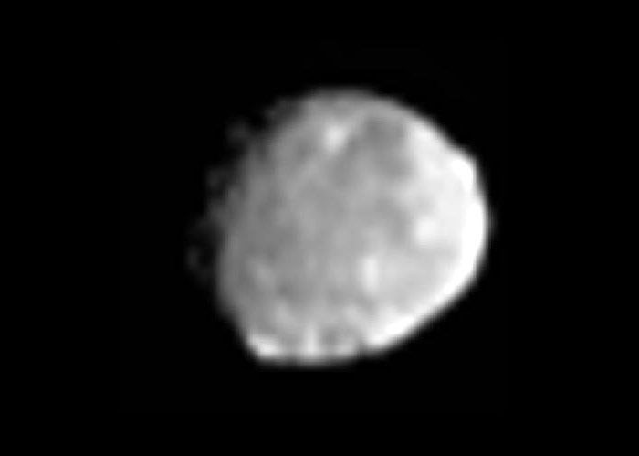 An image of asteroid Vesta that was taken by the Dawn spacecraft on June 20, 2011.