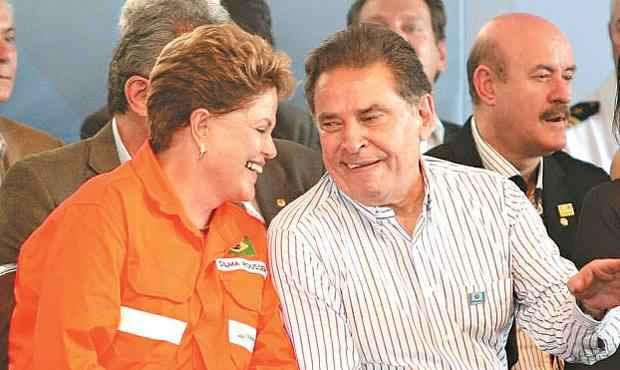 Dilma Rousseff e João Lyra estiveram juntos pela última vez no dia 14, em Suape (ALOISIO MOREIRA/SEI)