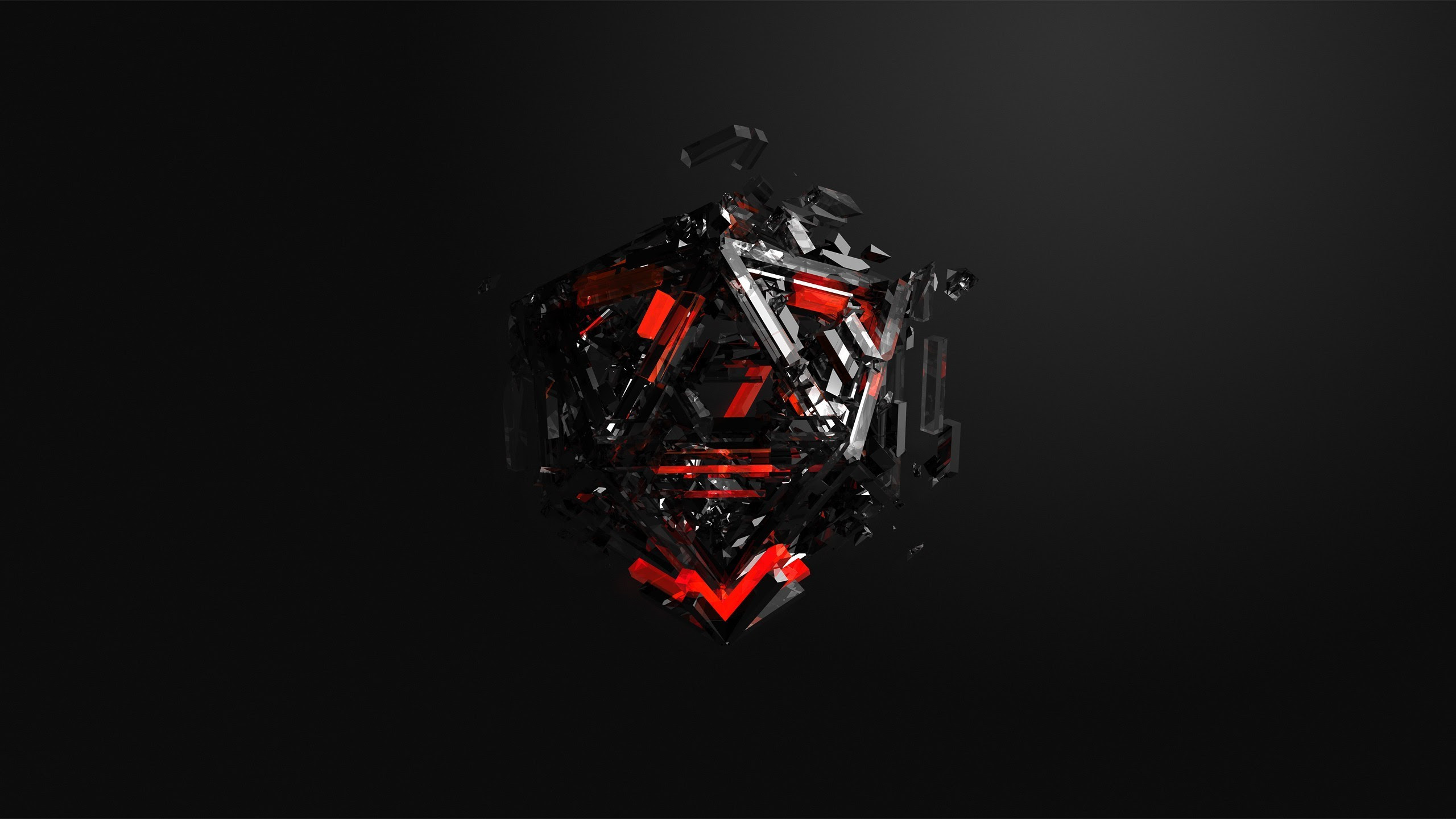 Cgi Cube Black Red Wallpapers Hd Desktop And Mobile Backgrounds
