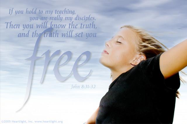 Inspirational illustration of John 8:31-32