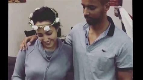 Ethiopia   Actress Hanan Tariq and her fiance preparation