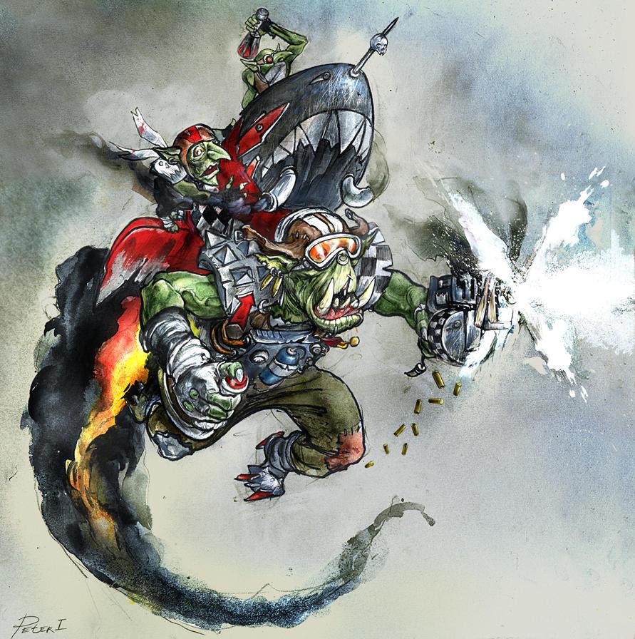 Warhammer 40k: Ork Stormboyz by Peter1punk