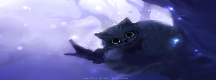 Capa para facebook gato de cheshire
