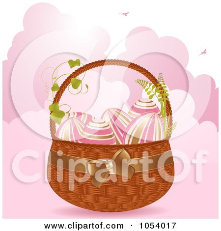 easter eggs in a basket pictures. Gold And Pink Easter Eggs In A