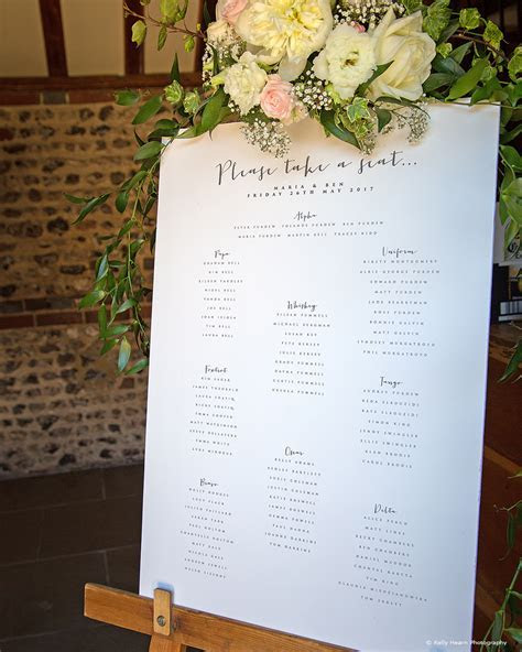 Wedding Table Plan Ideas   Upwaltham Barns