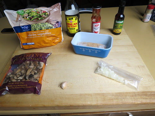Ingredients for Chicken Sausage Stir Fry