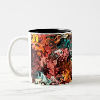 Glance Inside Inside Glances: Modern Art Coffee Mugs