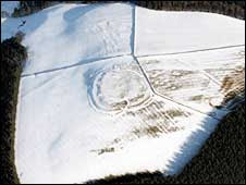 Aerial picture Iron Age Hillfort