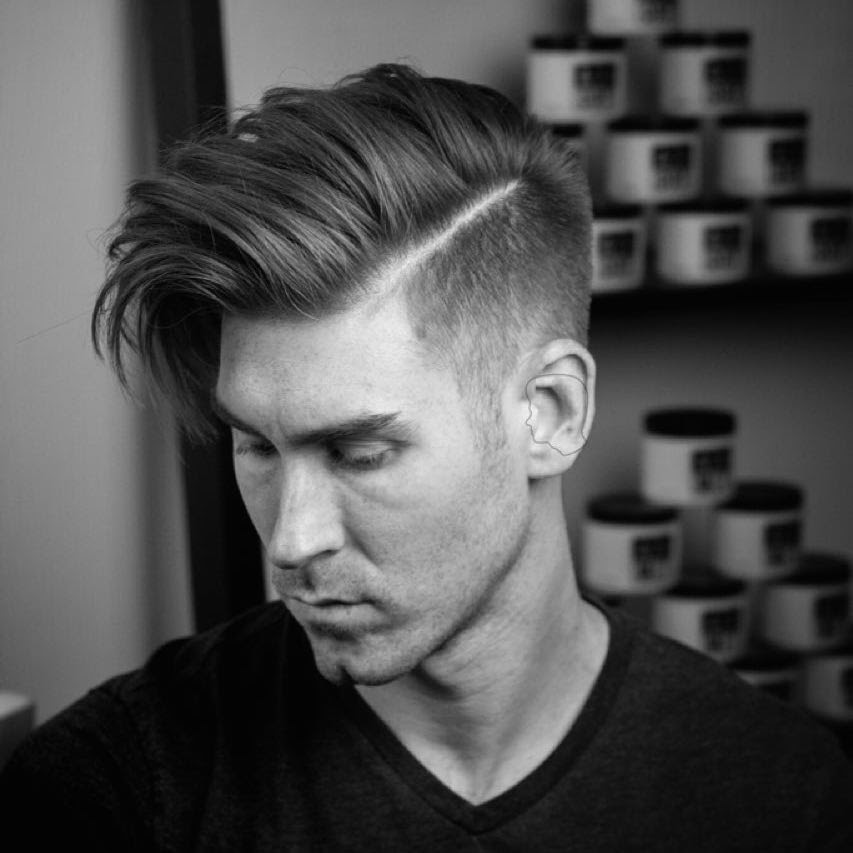 andrewdoeshair_high fade and long hair blown dry with movement