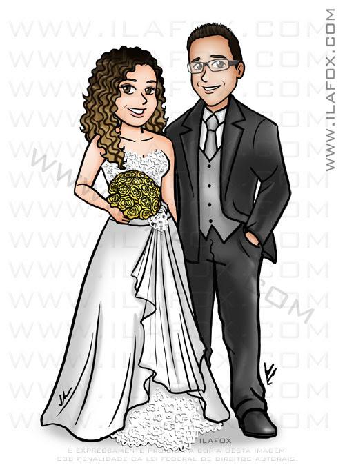 caricatura desenho, caricatura noivos, caricatura casal, caricatura bonita, caricatura para casamento, by ila fox