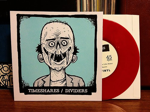 "Timeshares / Dividers - Split 7"" - Red Vinyl (/100) by Tim PopKid"