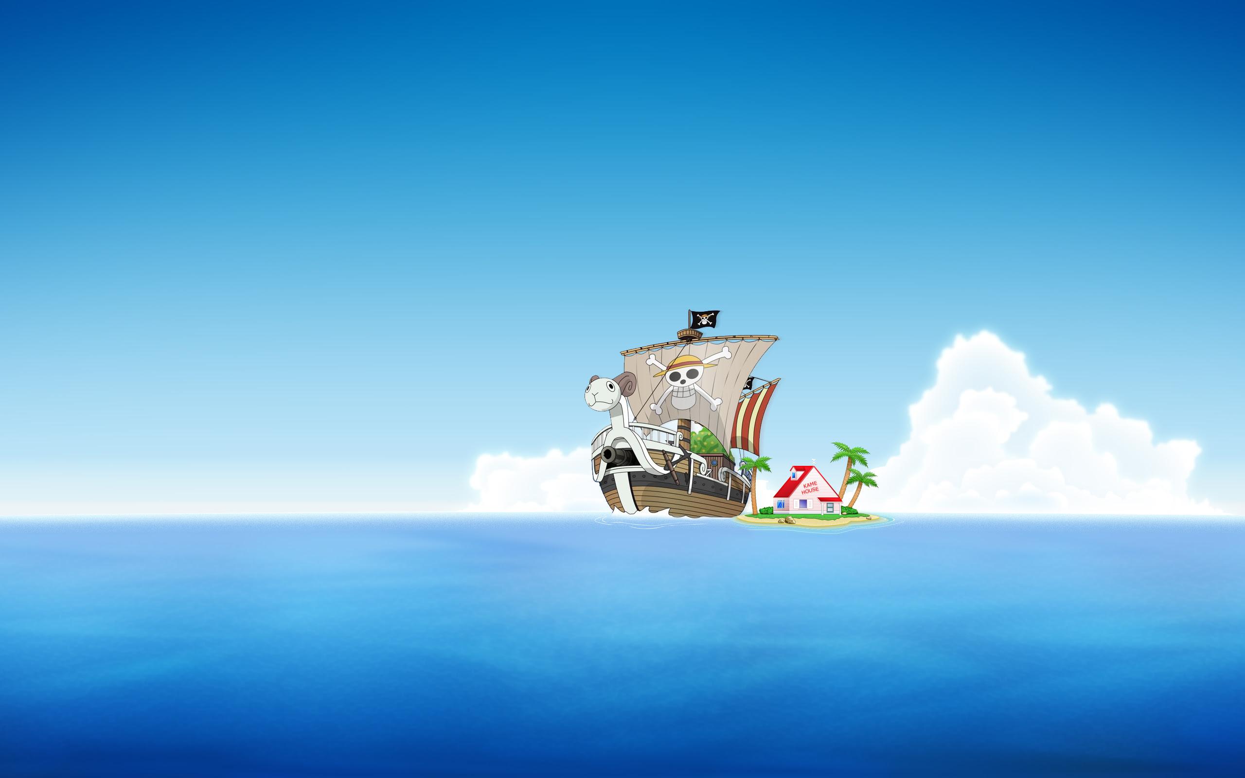 Wallpaper Pemandangan: One Piece Going Merry Wallpaper
