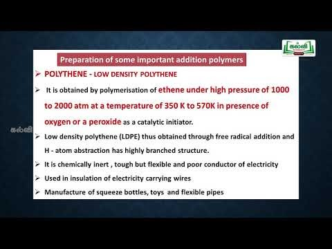 NEET JEE  Chemistry Polymers Part  2 Kalvi TV
