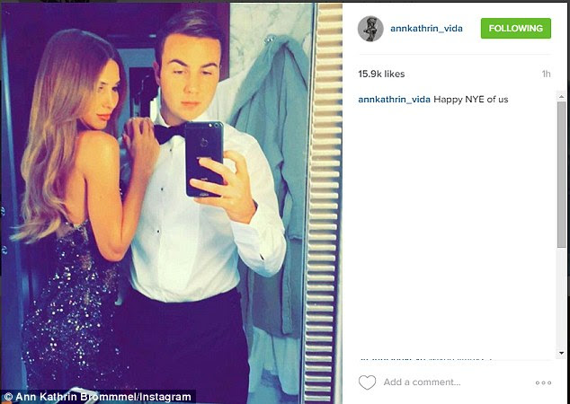 Mario Gotze's girlfriend Ann-Kathrin Brommel posted this picture of the pair ready to head out